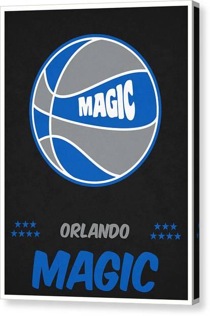 Orlando Magic Canvas Print - Orlando Magic Vintage Basketball Art by Joe Hamilton
