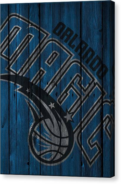 Orlando Magic Canvas Print - Orlando Magic Wood Fence by Joe Hamilton