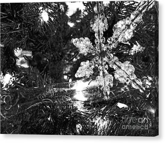 Ornamental Snowflake Canvas Print
