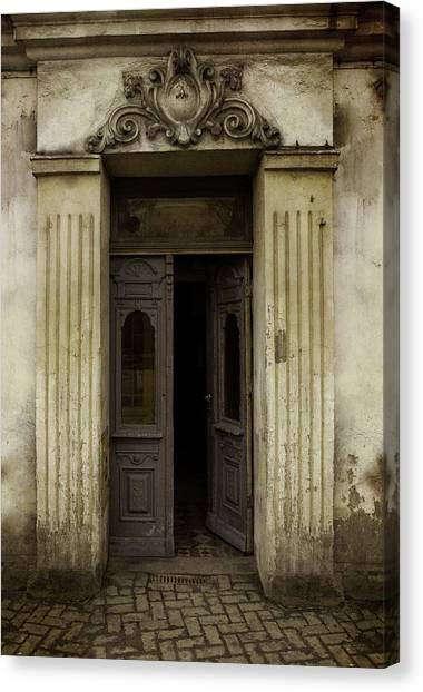 Architectur Canvas Print - Ornamented Gate In Dark Brown Color by Jaroslaw Blaminsky