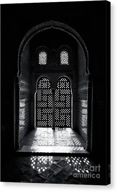 Alhambra Canvas Print - Ornate Alhambra Window by Jane Rix
