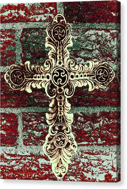 Ornate Cross 1 Canvas Print