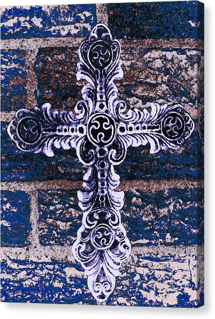 Ornate Cross 2 Canvas Print