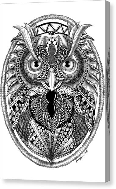 Ornate Owl Canvas Print
