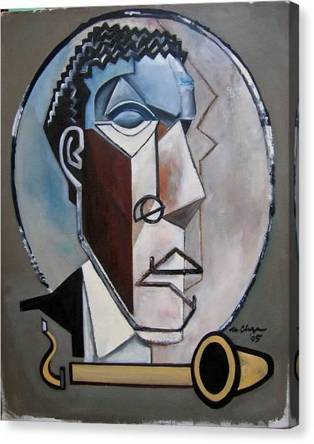 Ornette Sculptural Canvas Print by Martel Chapman