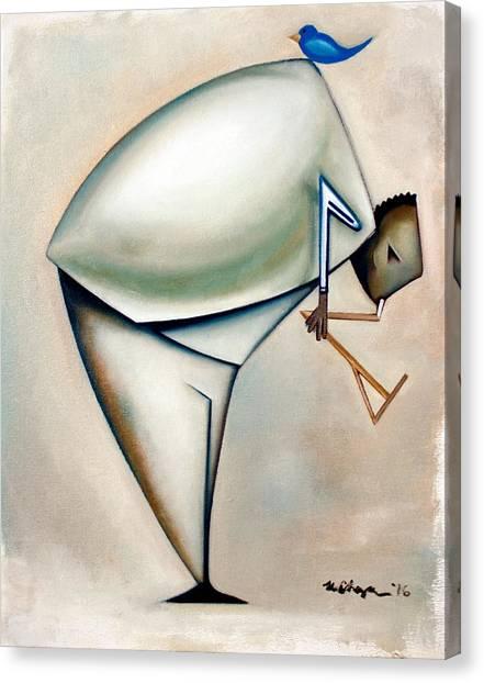 Ornithologis Dualis Canvas Print by Martel Chapman