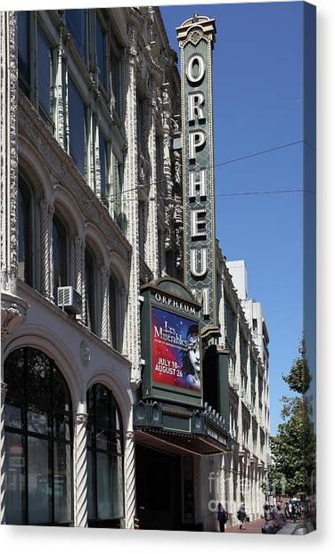 Orpheum Theatre San Francisco California 5d17997 Canvas Print