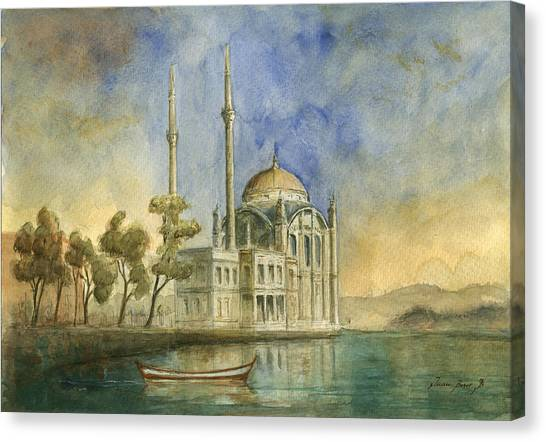 Turkeys Canvas Print - Ortakoy Mosque Istanbul by Juan Bosco