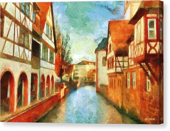 Ortschaft Canvas Print
