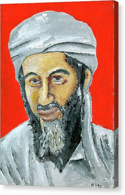 Osama Canvas Print by Mikey Milliken