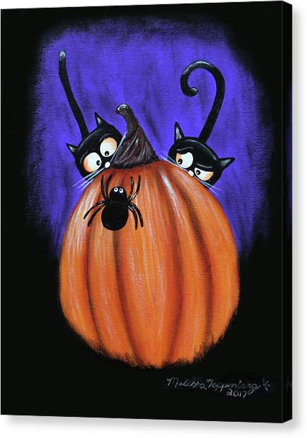 Oscar And Matilda - A Spider Oh Heck No Canvas Print