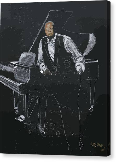 Oscar Peterson Canvas Print