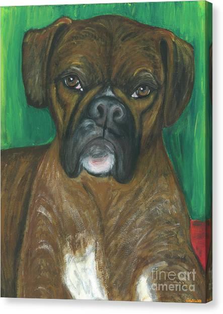 Ania Milo Canvas Print - Oscar The Boxer by Ania M Milo