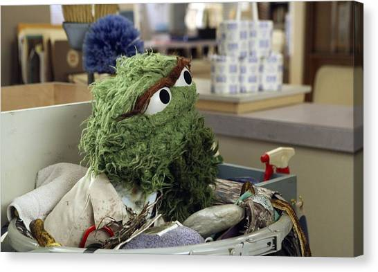 Oscar The Grouch Canvas Print