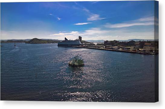 Oslo Fjord From The Roof Of The National Opera House Canvas Print