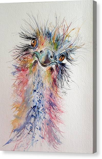 Ostriches Canvas Print - Ostrich by Kovacs Anna Brigitta
