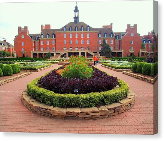 Oklahoma State University Canvas Print - Osu Garden And Union  by Buck Buchanan