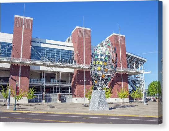 Oregon State University Osu Canvas Print - Osu Reser Stadium, Home Of The Beavers by Paul Fell