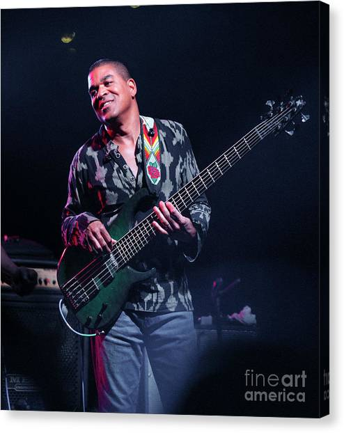 The Allman Brothers Band Canvas Print - Oteil Burbridge by Chuck Spang