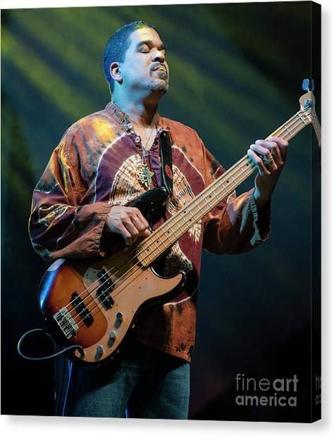 The Allman Brothers Band Canvas Print - Oteil Burbridge With The Allman Brothers Band by David Oppenheimer
