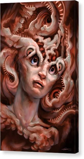 Creepy Canvas Print - Otermimic by Ethan Harris