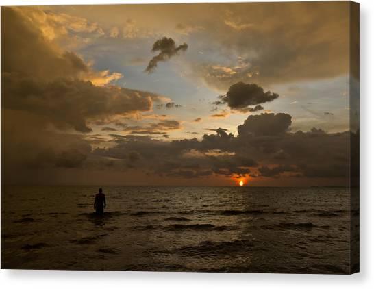 Otres Beach Sunset Canvas Print