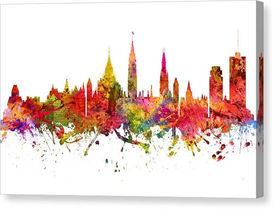 Ottawa Canvas Print - Ottawa Cityscape 08 by Aged Pixel