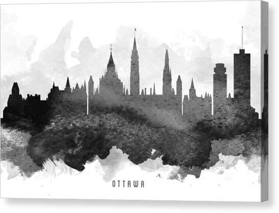 Ottawa Canvas Print - Ottawa Cityscape 11 by Aged Pixel
