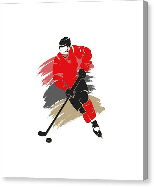 Ottawa Senators Canvas Print - Ottawa Senators Player Shirt by Joe Hamilton