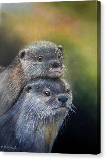 Otter Be Two Canvas Print