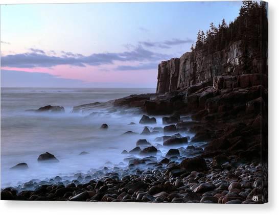 Otter Cliff Awash Canvas Print