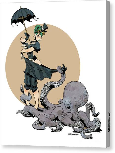 Ocean Animals Canvas Print - Otto By The Sea by Brian Kesinger