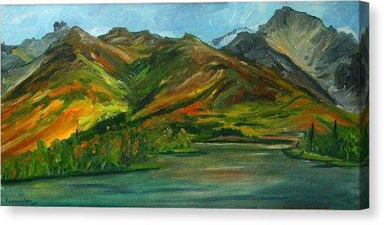 Otto Lake Canvas Print by Amy Reisland-Speer