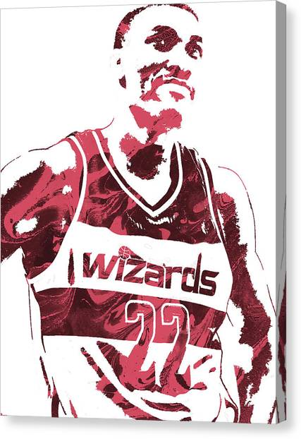 Washington Wizards Canvas Print - Otto Porter Washington Wizards Pixel Art 2 by Joe Hamilton