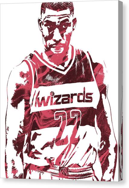 Washington Wizards Canvas Print - Otto Porter Washington Wizards Pixel Art by Joe Hamilton