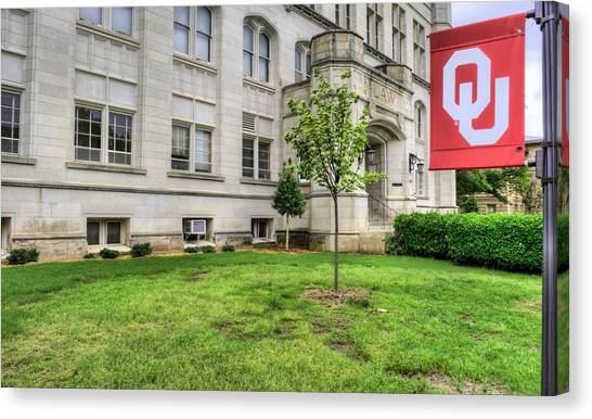 University Of Oklahoma Norman Campus University Of Oklahoma Canvas Print - Ou Law by JC Findley