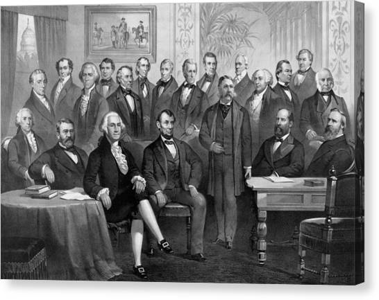 President Jefferson Canvas Print - Our American Presidents 1789 - 1881  by War Is Hell Store