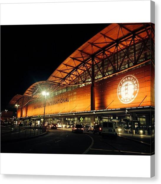 San Francisco Giants Canvas Print - San Francisco Airport Giants Themed by Nicole Alvarez