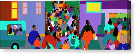 Canvas Print - Our Community by Synthia SAINT JAMES