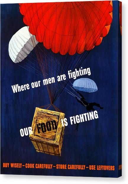 Conservation Canvas Print - Our Food Is Fighting - Ww2 by War Is Hell Store