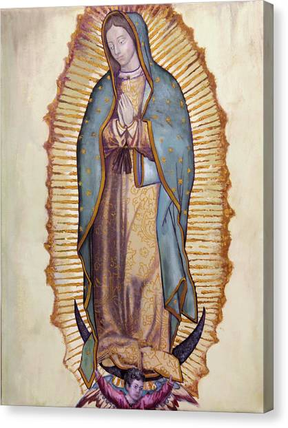 Mary Canvas Print - Our Lady Of Guadalupe by Richard Barone