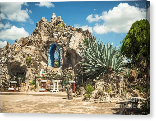 Our Lady Of Lourdes Grotto Canvas Print