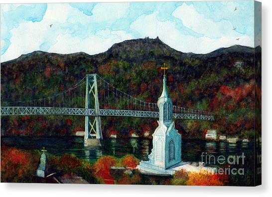 Franklin D. Roosevelt Canvas Print - Our Lady Of Mt Carmel Church Steeple - Poughkeepsie Ny by Janine Riley