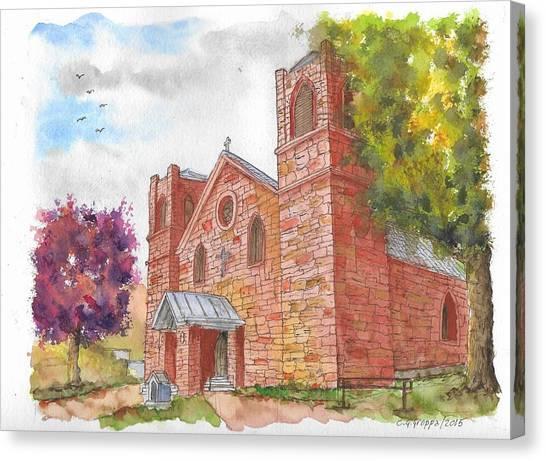 Our Lady Of Sorrow Catholic Church, Las Vegas, New Mexico Canvas Print