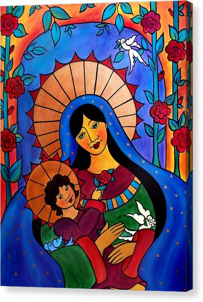 Our Lady Of The Garden Canvas Print