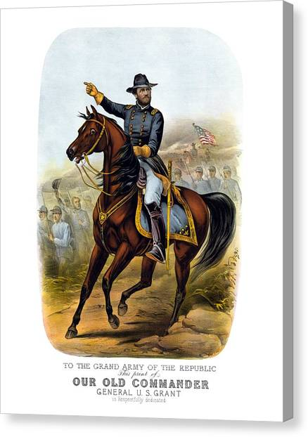 War Horse Canvas Print - Our Old Commander - General Grant by War Is Hell Store