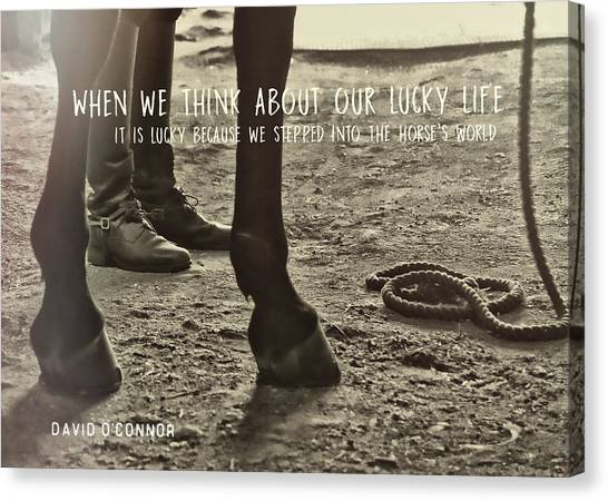 Our Partnership Quote Canvas Print by JAMART Photography