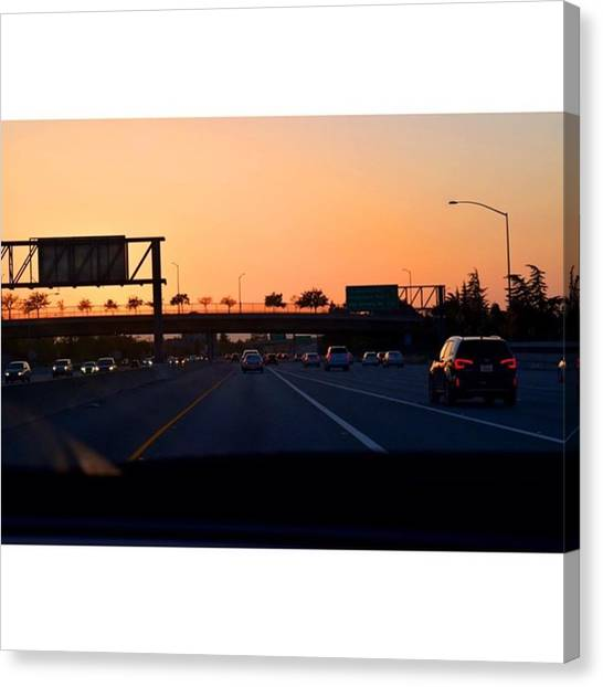 Scotty Canvas Print - Our Road Begins In Santa Monica Where by Scotty Brown