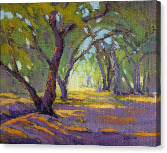 Canvas Print featuring the painting Our Secret Place 4 by Konnie Kim