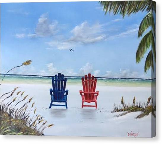 Our Spot On Siesta Key Canvas Print